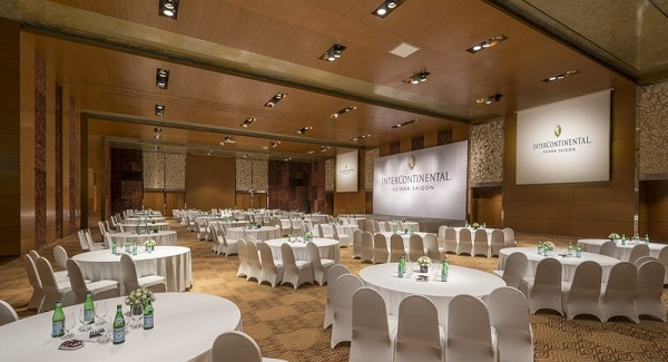 Không gian bên trong phòng sự kiện khách sạn InterContinental Saigon