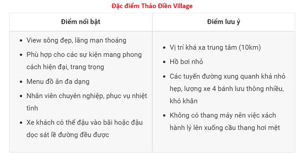 Đặc điểm Thảo Điền Village